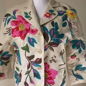 BCBG MaxAzria embroidered blazer
